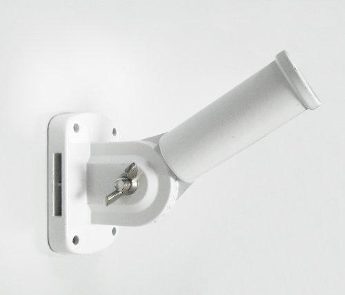 1 Diameter White Adjustable Flagpole Bracket - Quinn Flags Brand