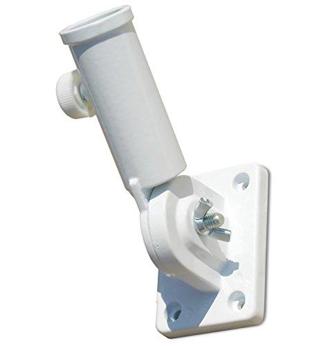 Chesapeake Bay Ltd Heavy Duty Adjustable Flagpole Bracket White Nylon