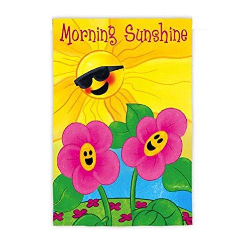 Cheery Spring Garden Morning Sunshine Decorative Outdoor Flag 18 x 125