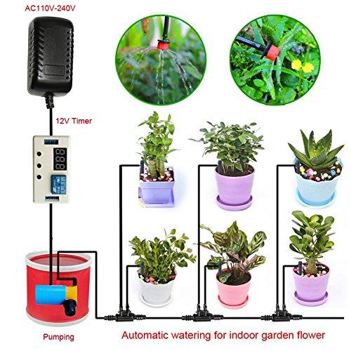 Indoor Garden Plat Automatic Watering System Timer for Home Indoor Garden Flower IrrigationPatioLawn Dripping
