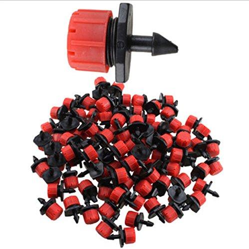 Irrigation 100 Micro Drip Kit Tubing Valve Hose Water Manifold Pressure Anti-clogging Emitter Drippers on 14 Barb