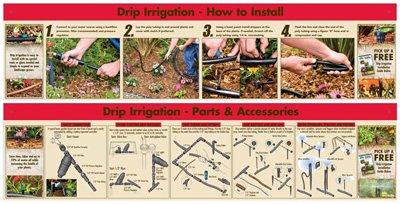 GFX DF11-2047-F11-F72 Dig Drip Irrigation POP Sign Kit