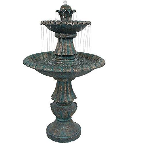 Sunnydaze Nouveau Tiered Garden Water Fountain 41 Inch Tall