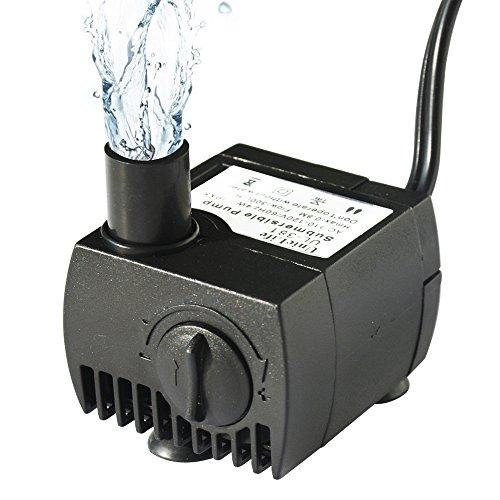 Uniclife Ul80 Submersible Water Pump 80 Gph Aquarium Fish Tank Powerhead Fountain Hydroponic Pump With 6ft Ul