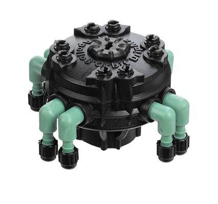 Orbit Adjustable Flow 8-port Drip Irrigation Manifold For 14&quot Tube