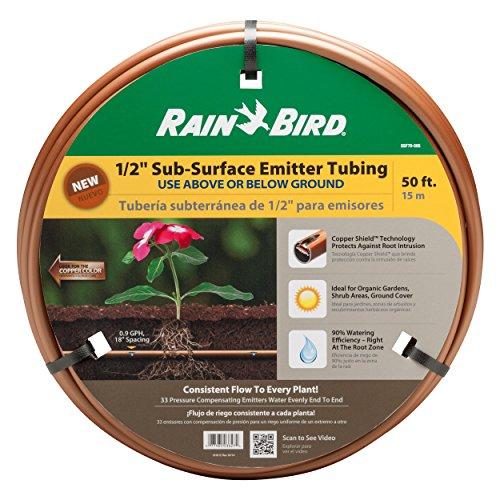 Rain Bird SSF70-50S Drip Irrigation 12 Sub-Surface Emitter Tubing with Copper Shield Technology 50 Roll
