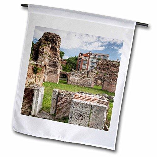 Danita Delimont - Architecture - Bulgaria Black Sea Varna ruins of Roman-era thermal heated baths - 18 x 27 inch Garden Flag fl_227080_2