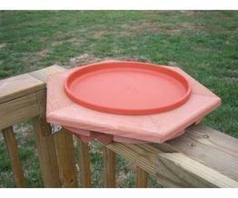 Songbird Essentials Se501 Cedar Heated Deck Bird Bath
