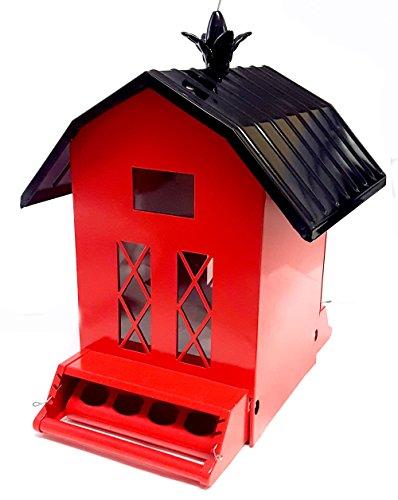 Large Bird House 13x 13 x 7 Red Bird Feeder Hanging Bird House