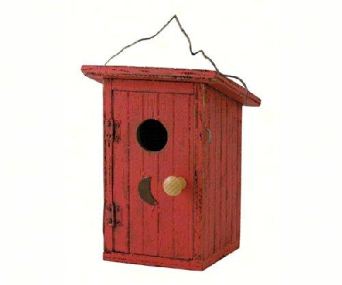 Songbird Essentials 008114 Birdie Loo Birdhouse Red