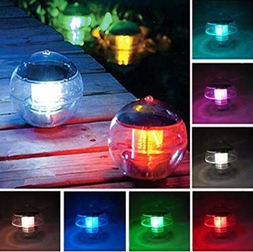 ECBUY Outdoor Solar Waterproof Color Changing LED Floating Lights Ball Pond Path Landscape Lamp ball for Swimming PoolGarden and Party Decor Outdoor Waterproof Pond Path Landscape lights