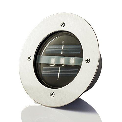 Xtf2015 Warm White 2700-3200k Solar Powered Ground Light Outdoor Use In-ground Light Garden Pathway Stairway