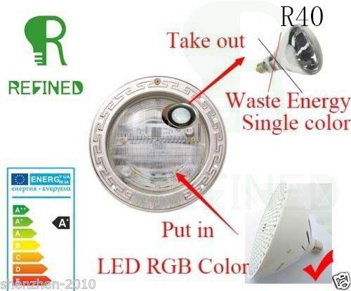 RGB E27 Led Swimming Pool Lights Bulb Ac120v 35w for Pentair Hayward Light DHL express take 3-5days