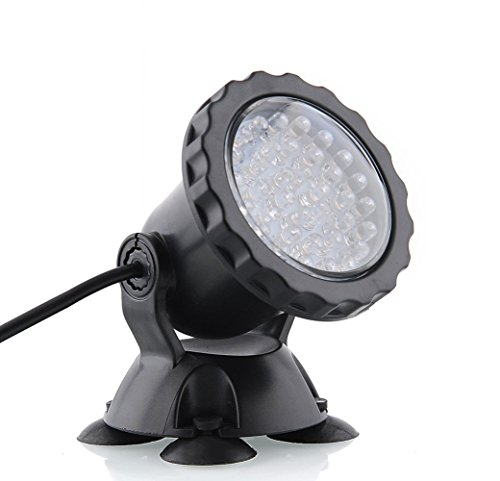 Deckey Waterproof 36 Led Submersible Spotlight Landscape Lamp For Aquarium Fish Tank Garden Fountain Pond Pool
