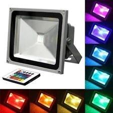 Tdltek Dc  Ac 12v 10w Rgb Multiple Changing Colors Led Flood Light spotlightlandscape Lampoutdoor Security