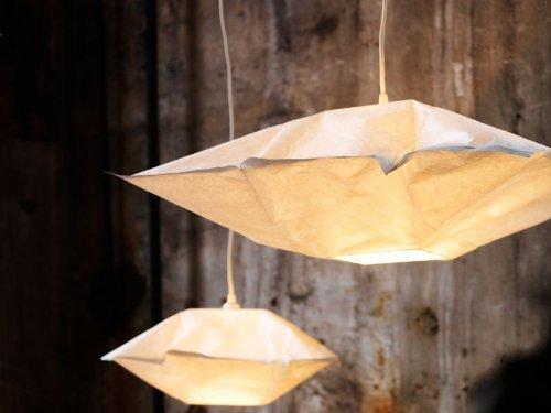Ikea VARMLUFT Ceiling pendant Light square Lamp Shade  Cord hooks set
