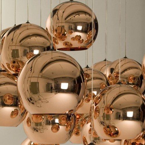 Lightinthebox Mini Globe Pendant 1 Light Minimalist Metal Glass Electroplating Modern Home Ceiling Light Fixture Flush Mount Pendant Light Chandeliers Lighting for Dining Room Bedroom Living Room