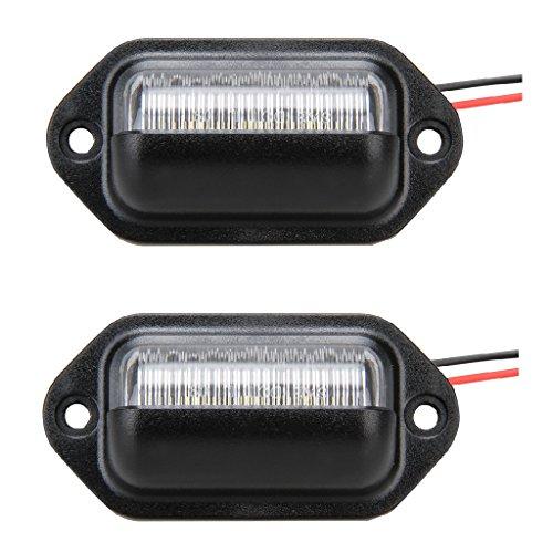 Excelvan 2 x 12V LED License Plate Tag Light Bulbs Boat Trailer RV Truck Interior DOT Step Light