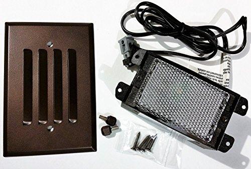 Malibu Lighting 8406240301 3w Low Voltage Led Half Brick Deckstep Light Oil Rubbed Bronze