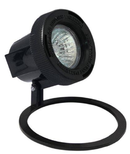 Paradise GL22609 Low Voltage Plastic 20W Submersible Pond Light Black Quick Clip Connector Halogen MR16 Bulb - Included