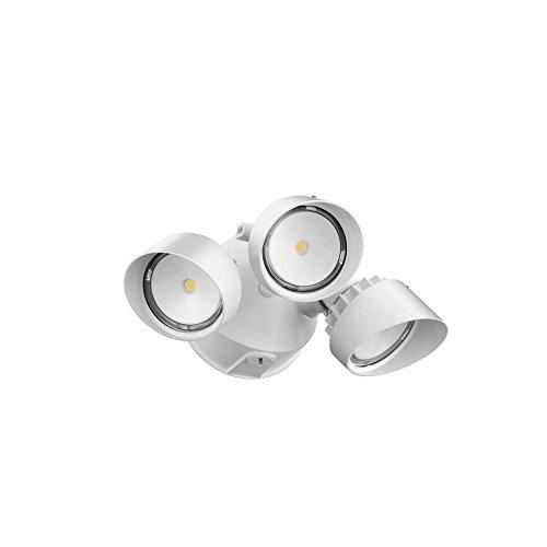 Lithonia Lighting Olf 3rh 40k 120 Wh M4 3-head Outdoor Led Round Flood Light White