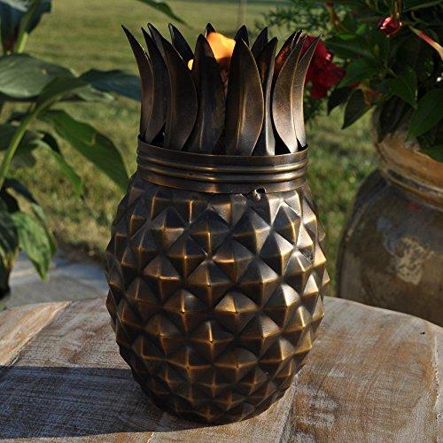 Starlite Garden and Patio Torche Pineapple Tabletop Torch Decor Antique Finish