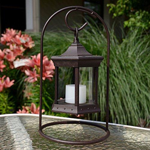 Starlite Garden and Patio Torche SLASCG Solar Lantern Arch Stand BrownClear Glass