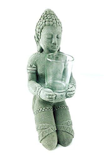 LARGE STONE BUDDHA TEALIGHT CANDLE HOLDER