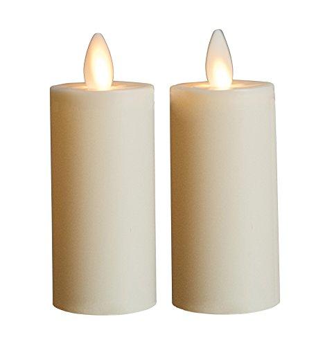 Boston Warehouse Mystique Flameless Votive Candles 3-inch Ivory Set Of 2