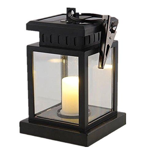 Lumiup Solar Led Candles Hanging Lantern Retro Vintage Light Lamp Patio Lights Outdoor Lamp