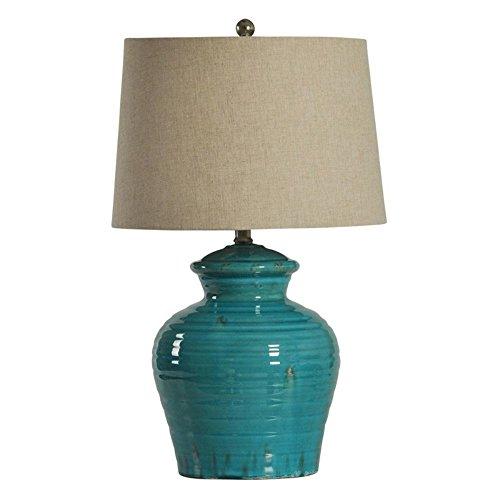 Stylecraft Turquoise Ceramic Jug Table Lamp