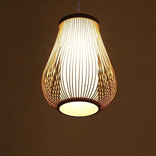 Petrelking Weave Lantern Ceiling Light Natural Bamboo Pendant Lamp For Hallway Dinning Room