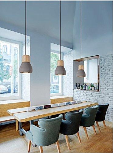 Dewel Cement lamp Minimalist Retro Hanging Lamp Vintage Lamp Livingroom Lamp No Bulb Included Grey