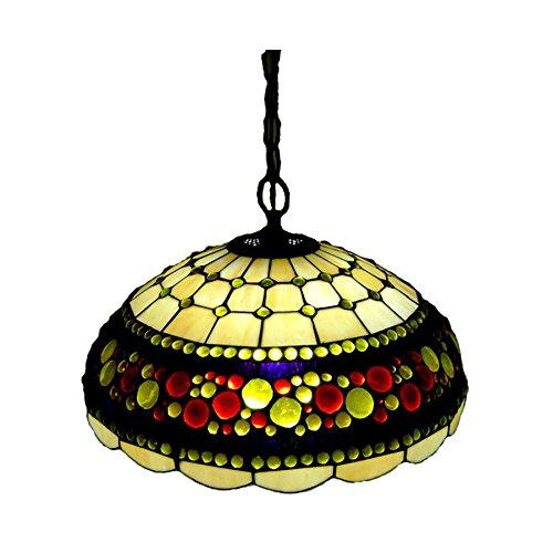 FUMAT E27 18 European Bead Tiffany Pendant Lamp Color Glass Dining Room Lighting 18