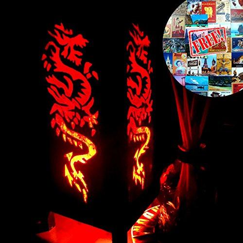 Rising Fire Red Dragon Table Lamp Lighting Shades Floor Desk Outdoor Touch Room Bedroom Modern Vintage Handmade
