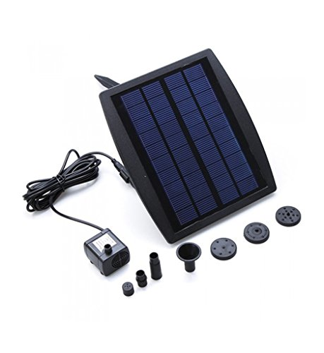 Gofurther GYP025 25Watt Solar Powered Water Pump with Built-in Storage Battery For Garden Pond Fountain Pool Plants caring Bird bath
