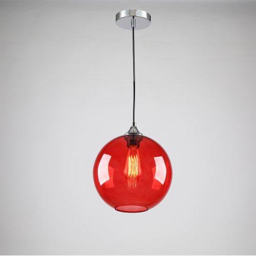 Lightinthebox Vintage Glass Pendant Light In Round Red Bubble Design Modern Home Ceiling Light Fixture Flush