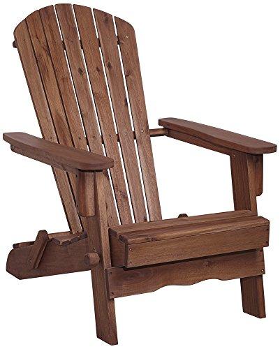 Monterey Dark Natural Wood Adirondack Chair