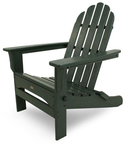 Trex Outdoor Furniture Cape Cod Folding Adirondack Chair Rainforest Canopy