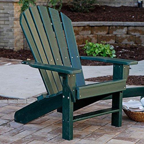 Jayhawk Plastics Recycled Plastic Seaside Adirondack Chair