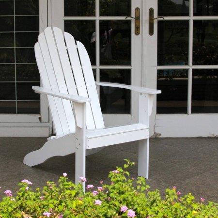FSC Hardwood Outdoor Adirondack Chair White Adirondack Chair