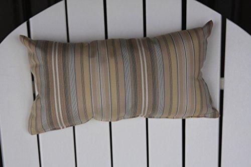 Outdoor Adirondack Chair Head Pillow Sundown Material- Beige Stripe