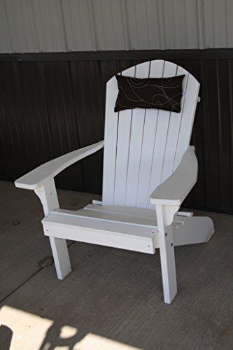 Outdoor Adirondack Chair Head Pillow Sundown Material- Brown Swirl