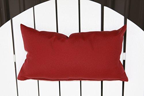 Outdoor Adirondack Chair Head Pillow Sundown Material- Burgundy