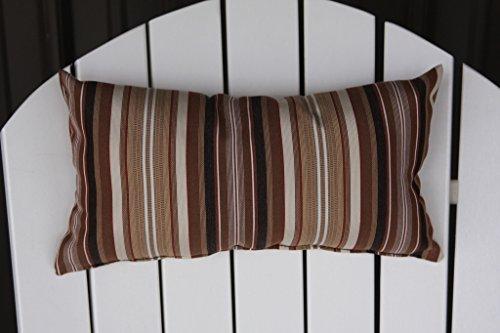 Outdoor Adirondack Chair Head Pillow Sundown Material- Maroon Stripe