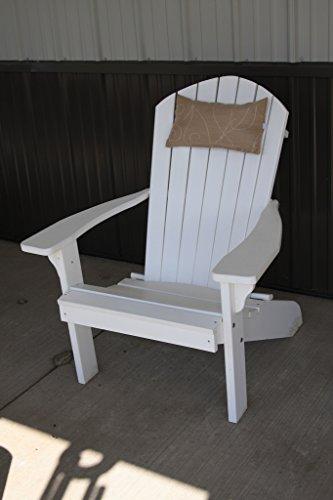 Outdoor Adirondack Chair Head Pillow Sundown Material- Tan Swirl