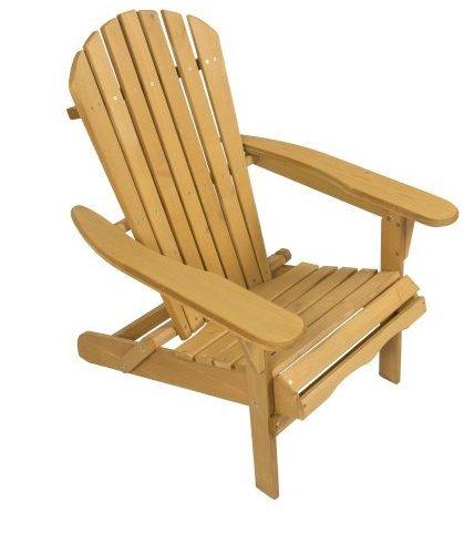 Outdoor Adirondack Wood Chair Foldable Patio Lawn Deck Garden Furniture