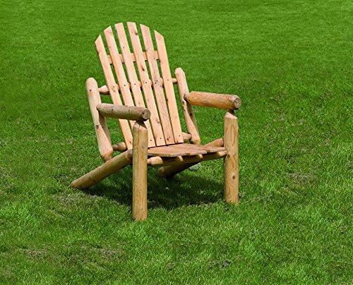 White Cedar Outdoor Adirondack Chair Rustic Brown Stain