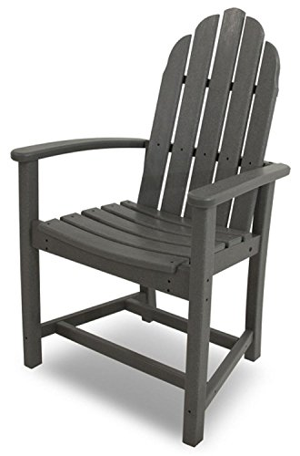39 Earth-Friendly Recycled Outdoor Patio Adirondack Dining Chair - Slate Gray
