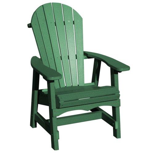 VIFAH V1085-G Recycled Plastic Adirondack Dining Chair Green